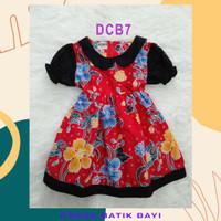 Batik Bayi Perempuan Dress Kombinasi Cantik Baju Usia 0-2 tahun Kode D