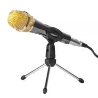 Stand Microphone Tripod Meja Plus Mic Holder Table Desk Stand