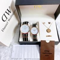 jam tangan Couple Paket D.W tali kanvas free Acc Sesuai foto [COD]