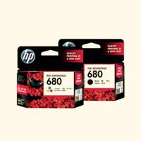 TINTA HP 680 CATRIDGE black dan color ORIGINAL 100%