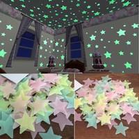 Bintang Glow in the Dark (100pcs) / Bintang Bercahaya / Bintang Terang
