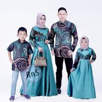 Baju Kondangan Couple Set Keluarga Modern / Gaun Pesta Keluarga Muslim
