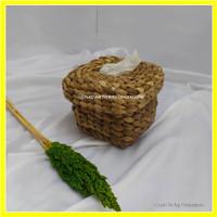 Tissue Box / Tempat Tisu / Kotak Tisu / Tissue Box Anyaman Enceng