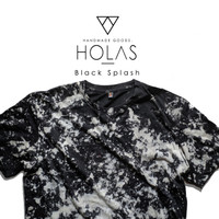 Kaos Tie Dye Premium / Holas Black Splash