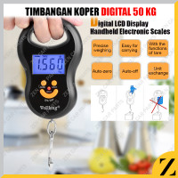 Timbangan Koper Digital 50 kg Gantung Portable Tas Luggage Scale Smile