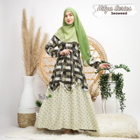 GAMIS MUSLIM MOTIF HILYA SERIES SEAWEED AHZARAYY THE DAY
