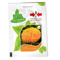 isi 10 Benih Bunga Marigold Golden BLM Original Pack Panah Merah