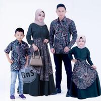 Pakaian Couple Muslim Keluarga Modern / Batik Kopel Pesta Kekinian
