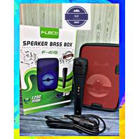 Speaker Bluetooth Karaoke Fleco 418 Free Mic - Speaker Portable BASS
