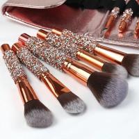 Make Up Brush Set Brush Make Up Wajah 10 Pcs Mewah Free Dompet