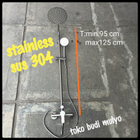 SHOWER TIANG COULUMN STAINLESS SUS 304
