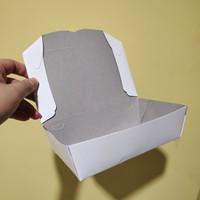 PAPER LUNCH BOX SPE MEDIUM 1609 - KOTAK MAKAN - PUTIH - ISI 100 PCS