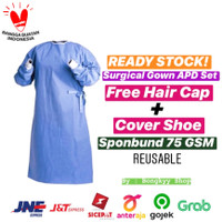 Surgical Gown Set / Gown APD / Baju Medis Operasi Waterproof/ Reusable