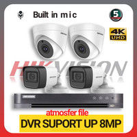 PAKET CCTV HIKVISION 8CH 4 CCTV 5MP MIC HDD2TB LENGKAP(DVR SUPORT 8MP)