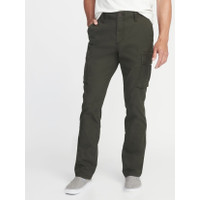 Celana Old Navy Straight fit Stretch Cargo Pants Olive Original