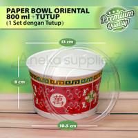 Paper Bowl Chinese + Tutup 800 ml | 27 oz