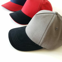 Topi Baseball Casual Sports Golf Cap - IMPORT PREMIUM - Unisex - Merah - Hitam