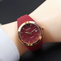 jam tangan wanita guess tali karet tanggal OT