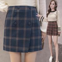 825 Zoe Korean Mini Skirt/Rok Slim Model High Waist Motif Kotak Korea