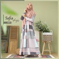 SAFIA DRESS B03 / Zizara / gamis only / gamis motif kotak busui