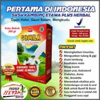 Susu Kambing Etawa Gomilk plus Herbal Daun Kelor dan Daun Salam