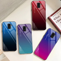 Gradient Glass Case Samsung Galaxy A6 2018 SamsungA62018 Casing HP