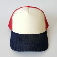 Topi Baseball Snapback Jaring Trucker Cap - IMPORT PREMIUM - Unisex - Creme - Navy