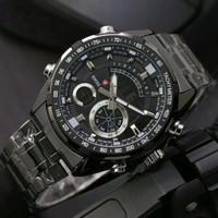 Jam Tangan Pria Swiss Army Dual Time New Limited