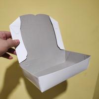 PAPER LUNCH BOX SPE LARGE 1810 - KOTAK MAKAN - PUTIH - ISI 100 PCS