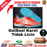 sepatu futsal specs illuzion infinity grade ori best seller - Merah, 43