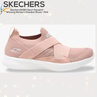 SEPATU SNEAKER WANITA Skechers BOBS Sport Squad 2 PINK ORI