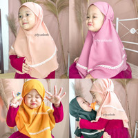 Bergo Anak Maryam Renda Kids Tali Non Pet Diamond Hijab Instant Jilbab