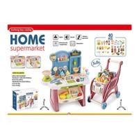 Home Supermarket + Trolley - Mainan Anak Kasir Supermarket