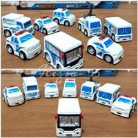 Mainan Anak Diecast Mobil Polisi Mini Pullback City Police Series