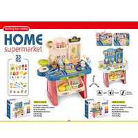 Mini Market Playset Biru | Mainan Supermarket Kasir