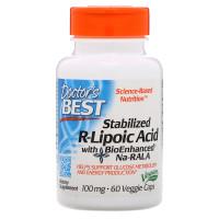 Doctor's Best Stabilized R-Lipoic Acid BioEnhanced Na-RALA 100mg 60cap