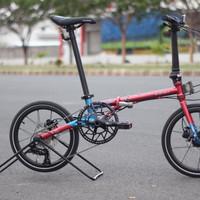 Sepeda lipat Element Troy X 10 Blue Red FREE HELM