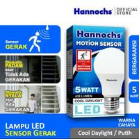 hannochs lampu sensor gerak 5 Watt Putih