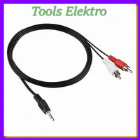 Good Quality Jack 3 5mm Stereo to RCA Male Audio Cable 1m SPC095521