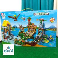 Mainan edukatif brick block 2 in 1 minecraft super jumbo 899 pcs