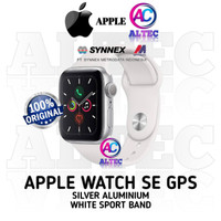 Apple Watch SE GPS - Silver Aluminum Case with White Sport Band RESMI