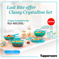 Tupperware Crytall Biru Set Promo