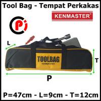 Kenmaster Tool Bag Tempat Penyimpanan Perkakas Alat Kerja Jumbo Kuning