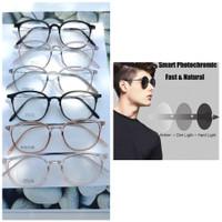 Kacamata TR elastis plastik paket lensa berubah warna transition murah