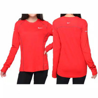 Baju / Kaos Olahraga Lengan panjang Nike Thumbhole Edisi Ferrari