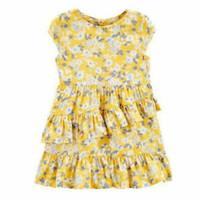 Dress Anak OBG Yellow Ruffle