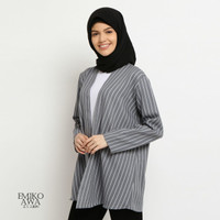 Outer SalurGrey - Emikoawa Cardigan Vest Outerwear Wanita Premium