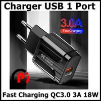 OLAF Charger USB 1 Port Fast Charging QC3.0 3A 18W EU Plug SLS 002