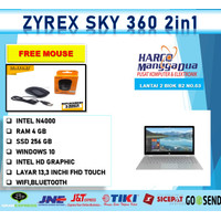 LAPTOP ZYREX Sky 360 2in1 Touch INTEL N4000 4GB 256ssd 13.3FHD W10