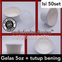 Paper cup ice cream 5oz+lid bening